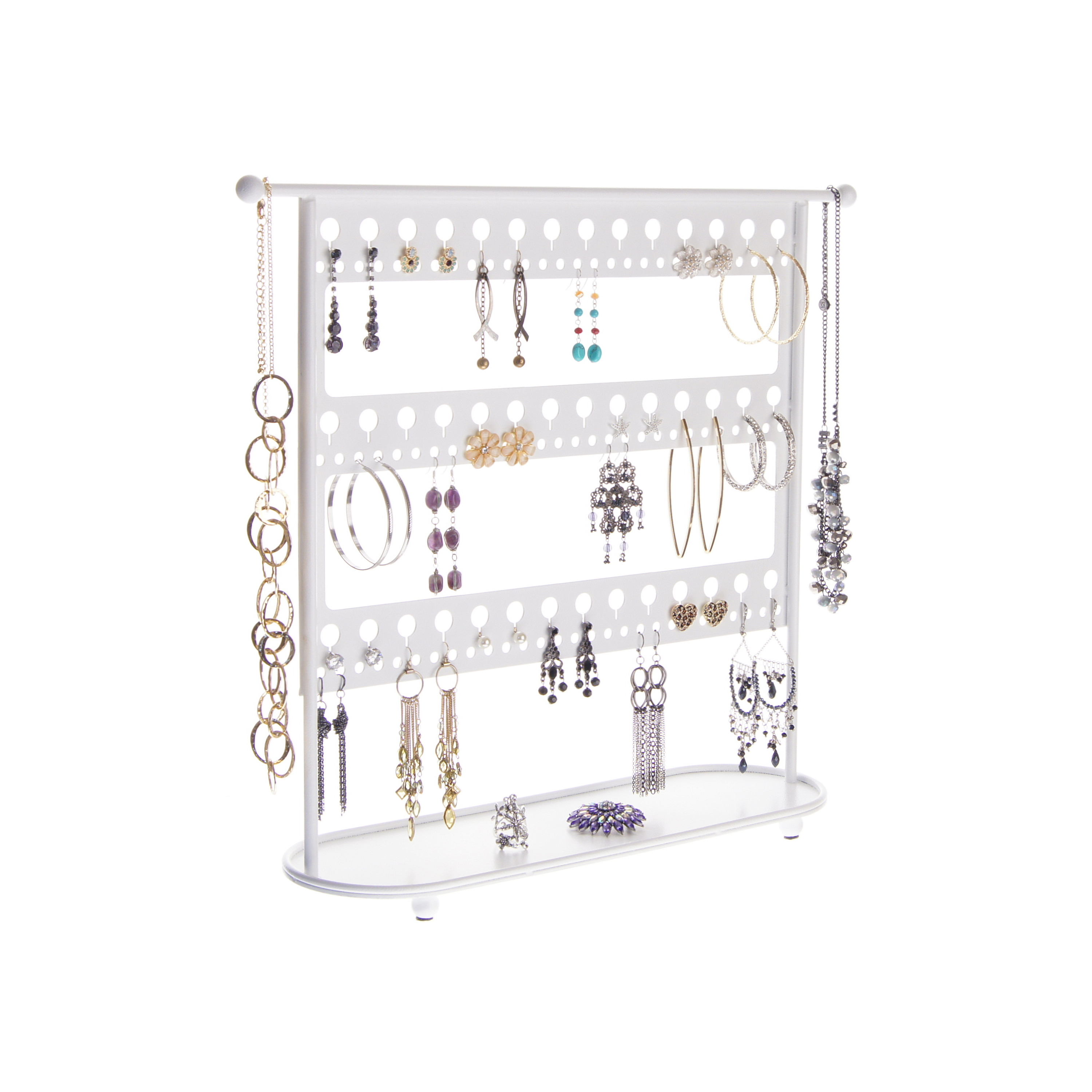 Large Earring Holder Stand Jewelry Organizer Necklace Storage Rack