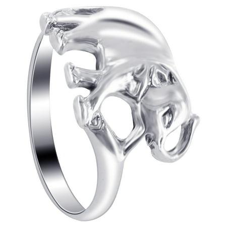Gem Avenue 925 Sterling Silver Elephant Shape Unique Ring