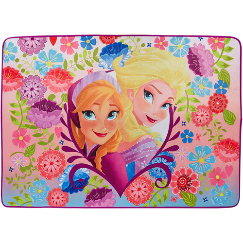 "Disney Frozen Princess 'Life's A Breeze' Area Rug, 3'4"" x 4'8"", Pink/Purple"