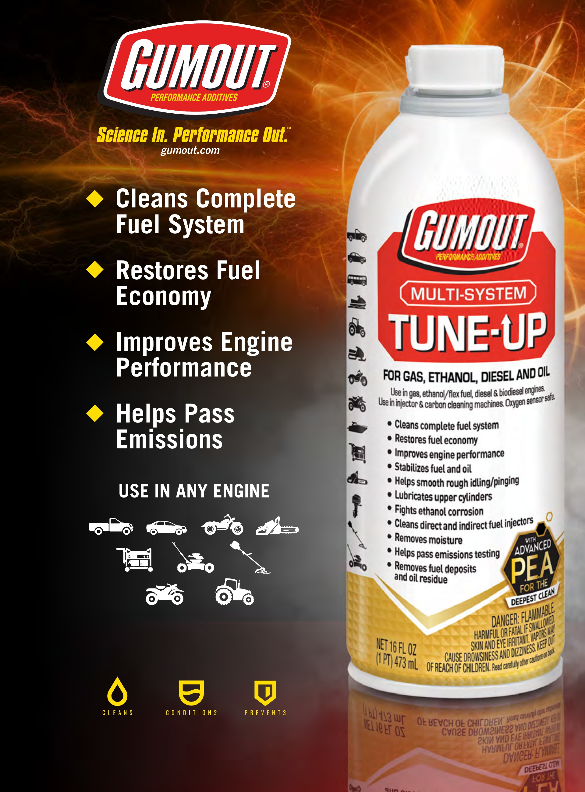 Gumout Multi-System Tune-Up 16-oz – 510011W Great For