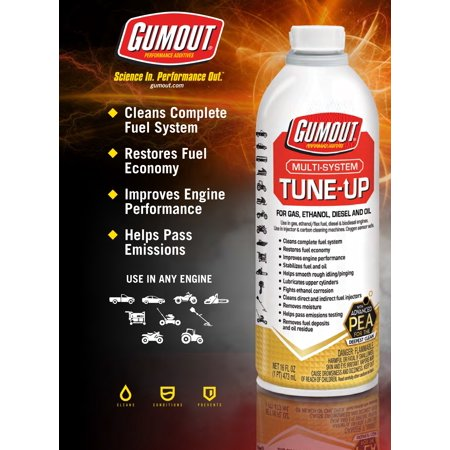 - Gumout Multi-System Tune-Up 16-oz – 510011W Great For Cleaning Complete Fuel System and Restoring Fuel Economy
