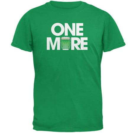 St. Patricks Day - One More Irish Green Adult T-Shirt