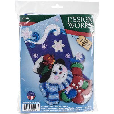 Snowflake Snowman Stocking Felt Applique Kit, 18