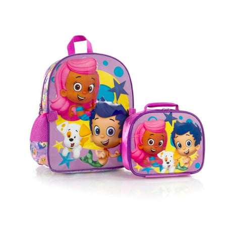 New Bubble Guppies Backpack with Lunch Bag for Kids - 15 Inch - Bubble Back Pack