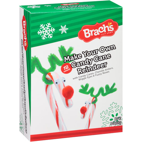 Brach's Make Your Own Candy Cane Reindeer Kit Gift, 8 oz