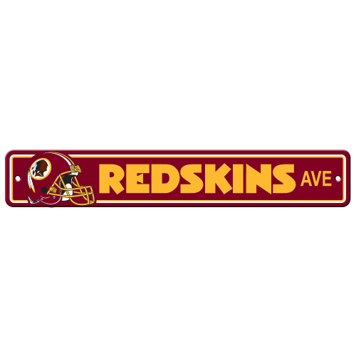 FREMONT DIE Inc Washington Redskins Plastic Street Sign Plastic Street Sign
