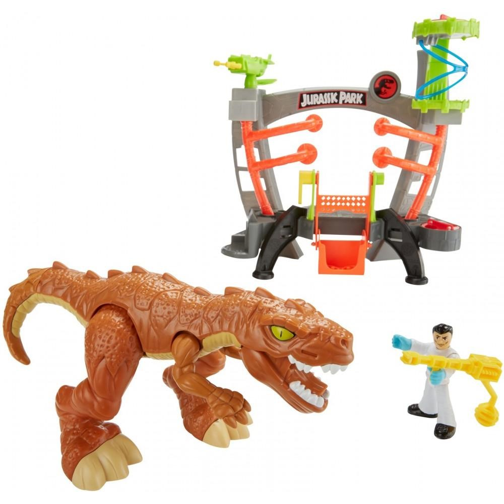 Imaginext Jurassic World Research Lab with T-Rex & Doctor Figure