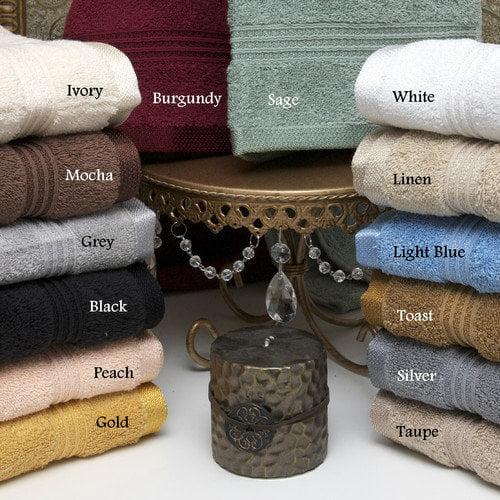 Simple Luxury Superior Cotton 6 Piece Towel Set
