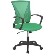 Office Chair Ergonomic Desk Chair Mesh Computer Chair with Lumbar Support Armrest Mid Back Rolling Swivel Adjustable Task Chair (White)
