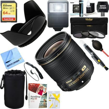 Nikon AF-S NIKKOR 28mm f/1.8G Lens (2203) + 64GB Ultimate Filter & Flash Photography