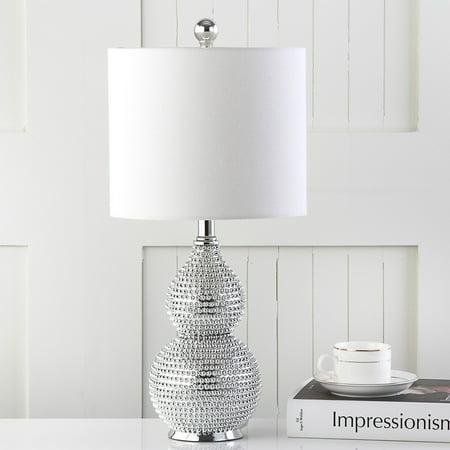 - Safavieh Clarabel 20 In. High Table Lamp, Silver