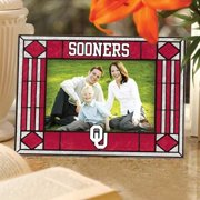 Oklahoma Sooners Crimson Art-Glass Horizontal Picture Frame