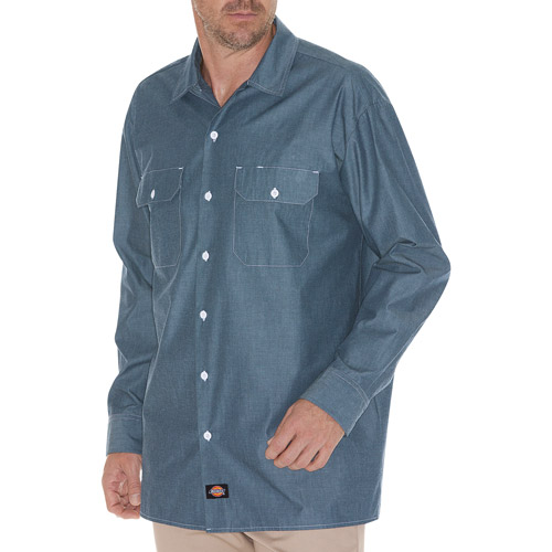 Dickies Men's Long Sleeve Chambray Shirt