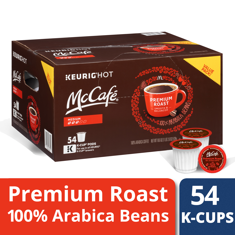 McCafe Premium Roast Coffee K-Cup Pods 54 ct Box