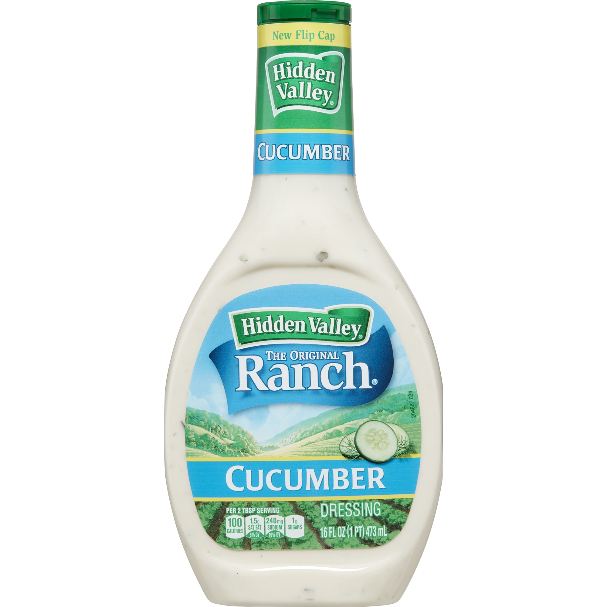 Hidden Valley Cucumber Ranch Salad Dressing & Topping, Gluten Free - 16 oz Bottle