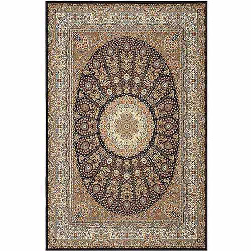 Home Dyanmix Area Rugs: Regency Rug: 6377-300 Navy Blue