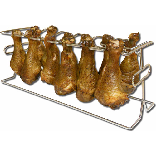 King Kooker 12-Slot Leg and Wing Rack for Poultry