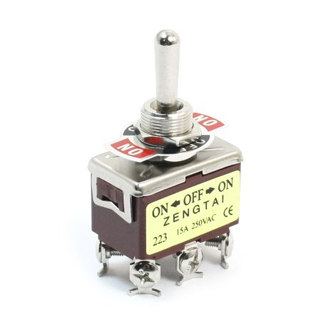ON-OFF-ON DPDT Momentary Rocker Type Control Toggle Switch  250V 15A E-TEN223 Dpdt Momentary Switch Type