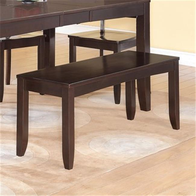Wooden Imports Furniture LY-WB-CAP Lynfield Dining Bench with Wood Seat in Cappuccino Finish