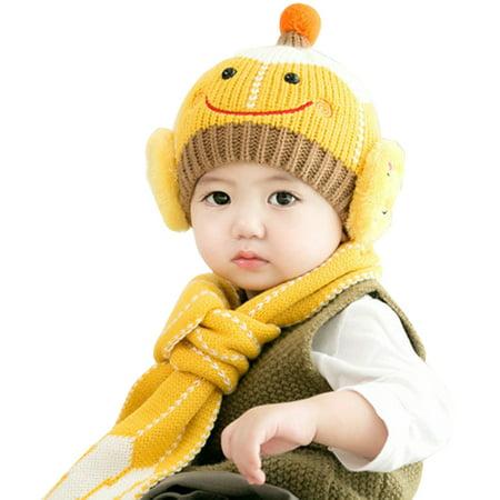 Baby Girls Boys Cute Hats and Scarf Set 5e1a76eaf59