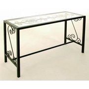 French Console Table w Glass Top