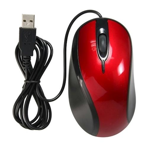 Insten USB Optical Scroll Wheel USB 2.0 Mouse, Red / Black