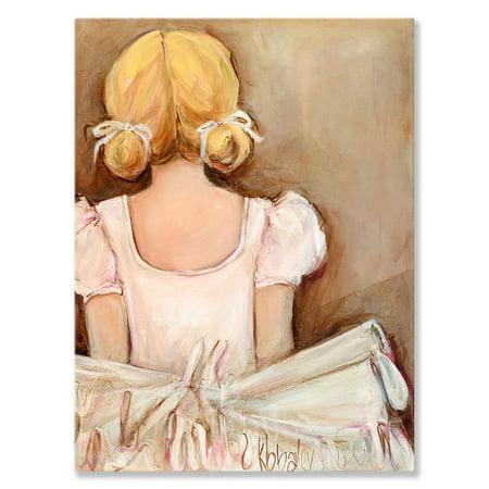 Oopsy Daisy - Canvas Wall Art Beautiful Ballerina- Blonde 24x30 By Kristina Bass Bailey