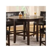Bossa 54 in. Dining Round Counter Table in Dark Chocolate Finish