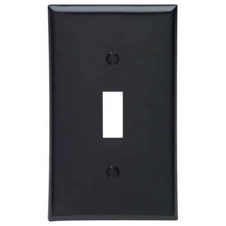 Leviton 80701-E Black Nylon Single Gang Toggle Light Switch Wall Plate