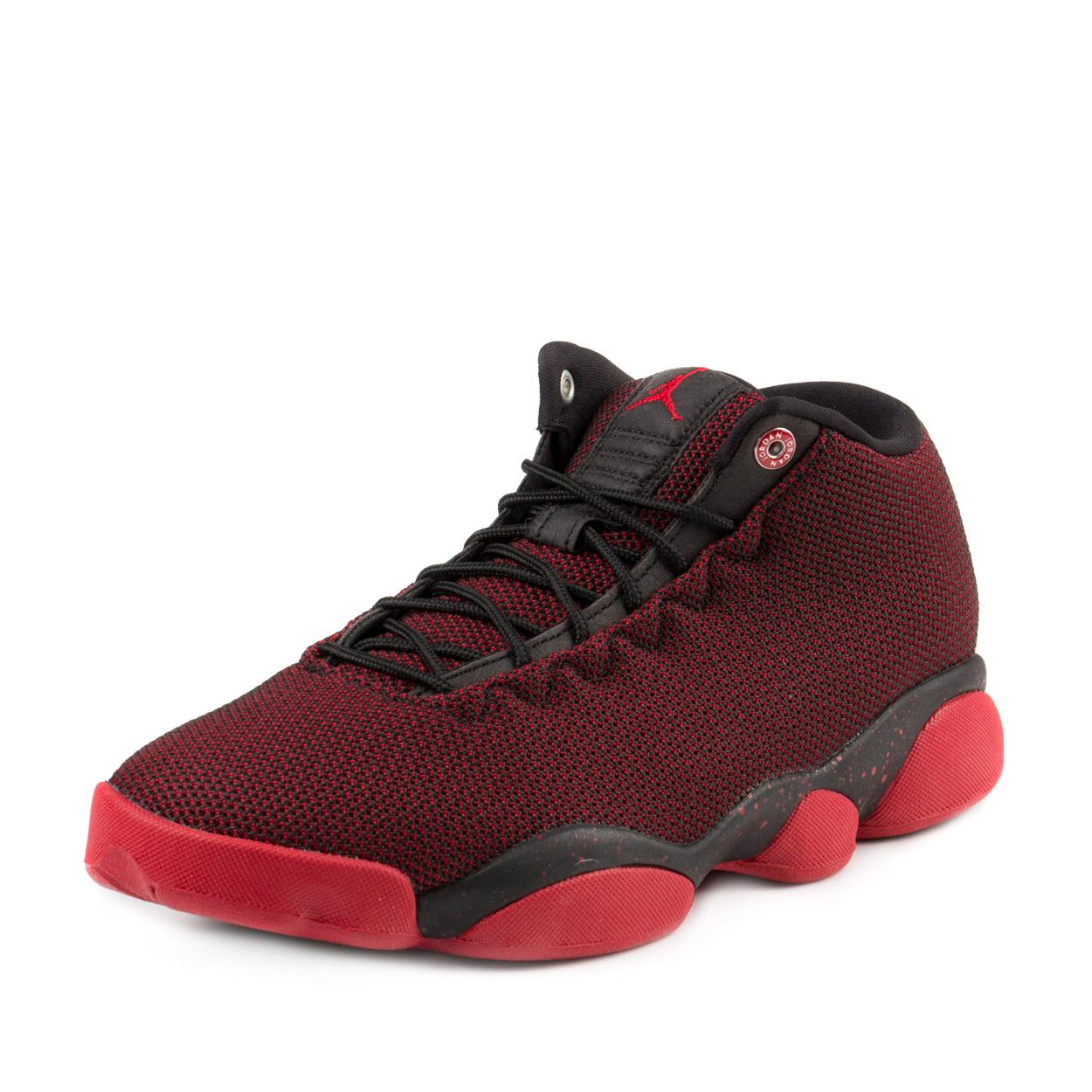 """Nike Mens Jordan Horizon Low """"Black Red"""" Black/Gym Red-Wh..."""