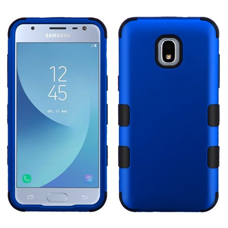 TUFF Hybrid Series Samsung Galaxy J3 Star Case, Heavy Duty [Military Grade Certified MIL-STD 810G-516.6 Drop Tested] Protection Case Cover and Atom Cloth for Samsung Galaxy J3 Star - Blue