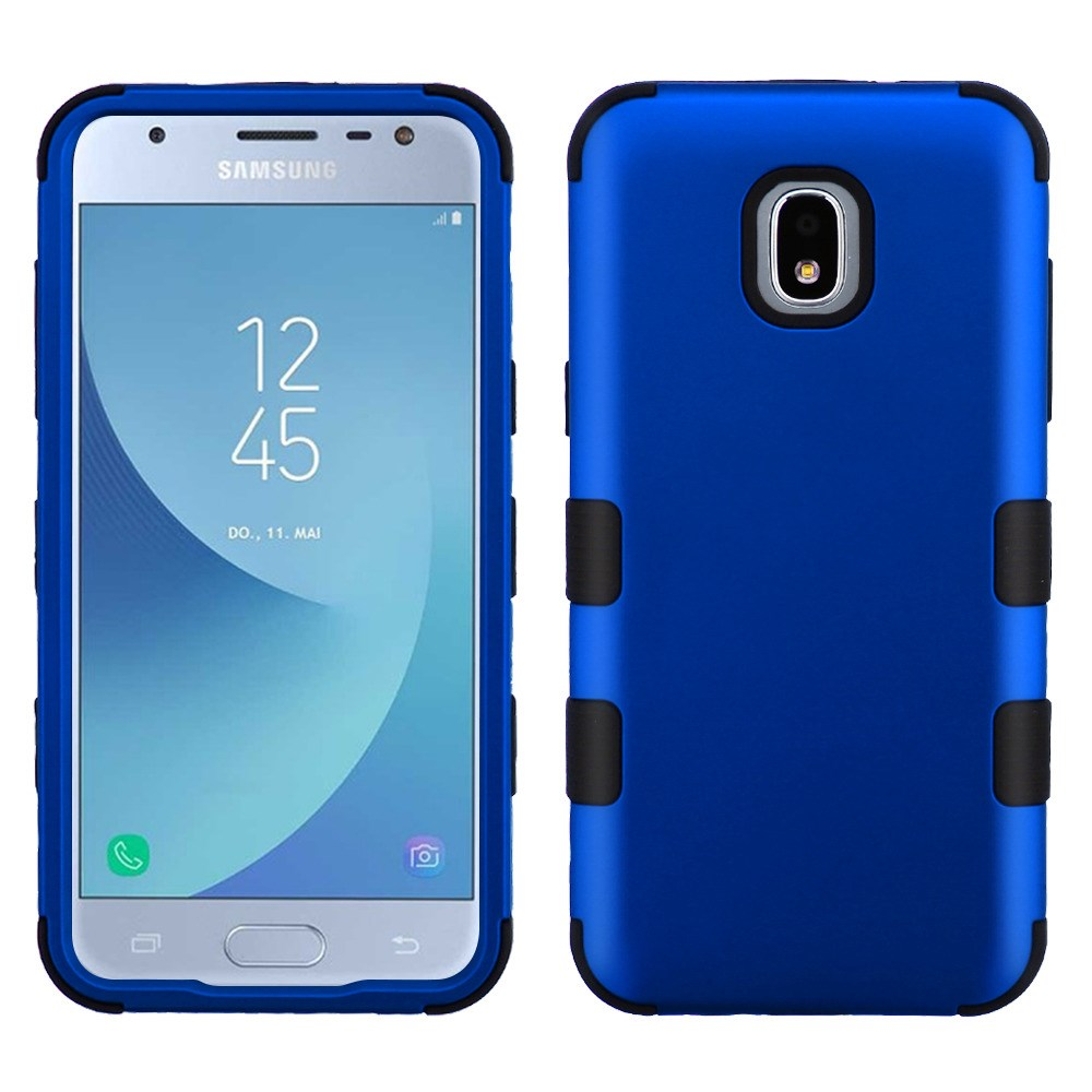 TUFF Hybrid Series Samsung Galaxy J3, J3V 3rd Gen Case,Rugged [Military Grade MIL-STD 810G-516.6 Certified] Protection Case and Atom Cloth for Samsung Galaxy J3, J3 V 3rd Gen 2018 (J337V) - Blue