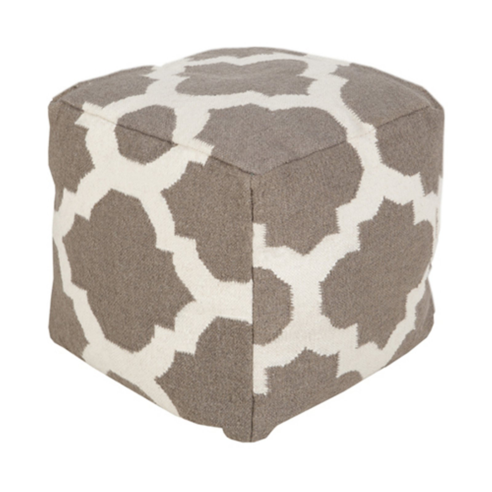 Surya 18 in. Morocco Cube Wool Pouf by Surya