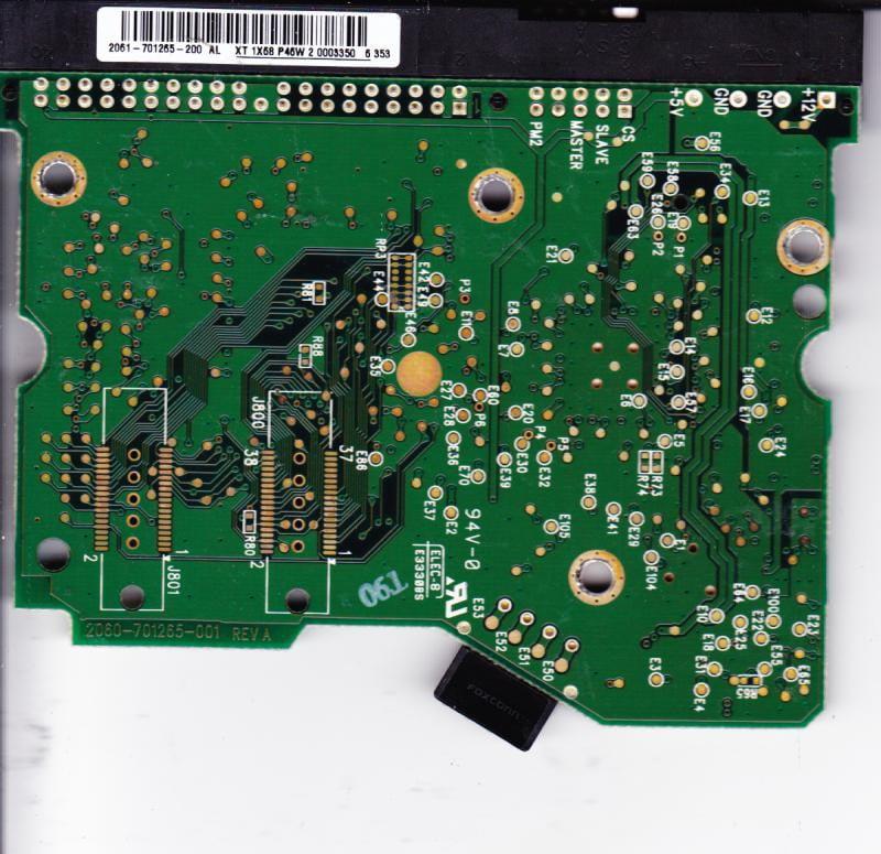 WD1600JB-98GVC0, 2061-701265-200 AL, WD IDE 3.5 PCB