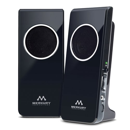 Merkury Innovations Amplified Stereo Speaker - Black (M-SPW510)