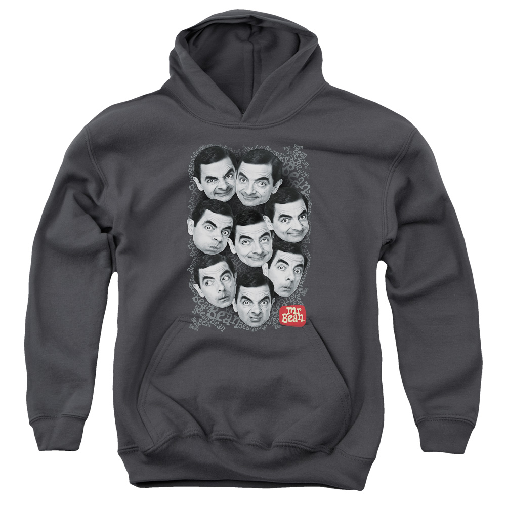 Mr Bean Heads Big Boys Pullover Hoodie