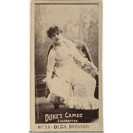 Card Number 38 Olga Brandon from the Actors and Actresses series (N145-4) issued by Duke Sons & Co to promote Cameo Cigarettes Poster Print (18 x 24) 38 Carte 1 Light