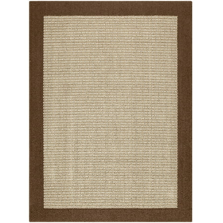 Mainstays Faux Sisal Olefin High Low Loop Tufted Area Rug or Runner (Palm Sisal Rug)
