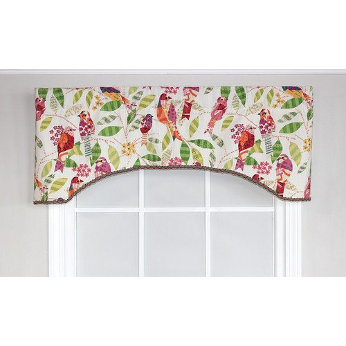 RLF Home Tweetie Text Arch Curtain Valance