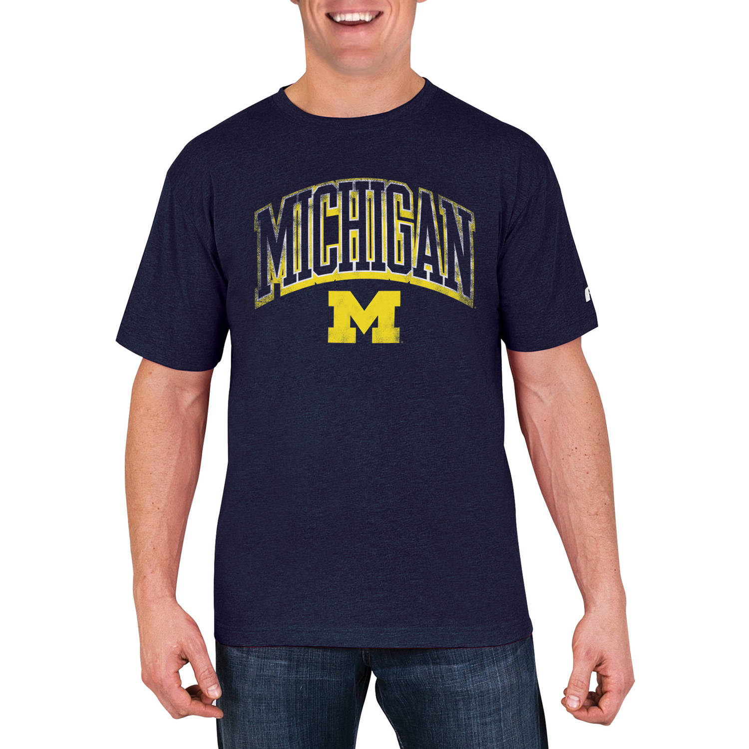 NCAA Michigan Wolverines Men's Cotton/Poly Blend T-Shirt