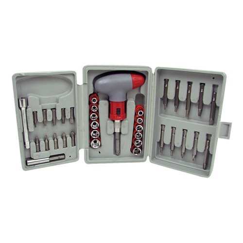 Trademark Global 36 Piece Power Screwdriver Socket and Bit Set