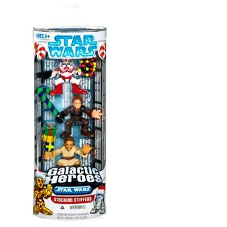 Obi-Wan Kenobi, Anakin Skywalker, and Shock Trooper Stocking Stuffers Star Wars Galactic Heroes - image 1 of 1