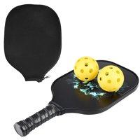 Pickleball Paddle and Ball Set, Graphite Carbon Fiber Pickleball Racket Honeycomb Composite Core Pickleball Set