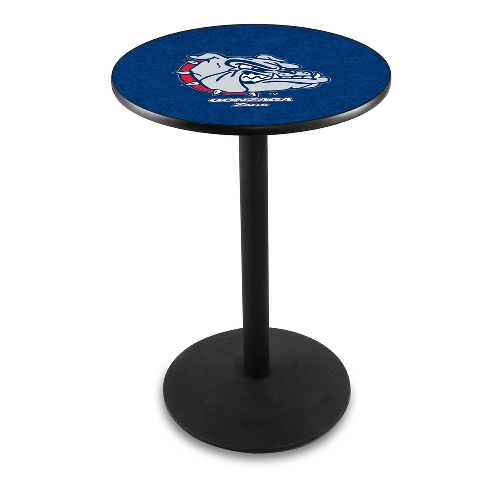 NCAA Pub Table by Holland Bar Stool, Black - Gonzaga University, 42'' - L214