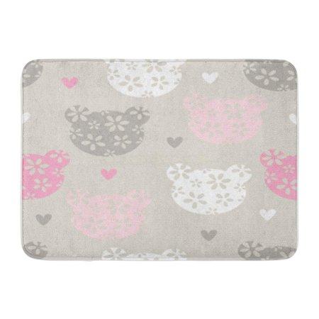 SIDONKU Baby Teddy Bear Pattern Cute Adorable Charming Doormat Floor Rug Bath Mat 23.6x15.7 inch ()