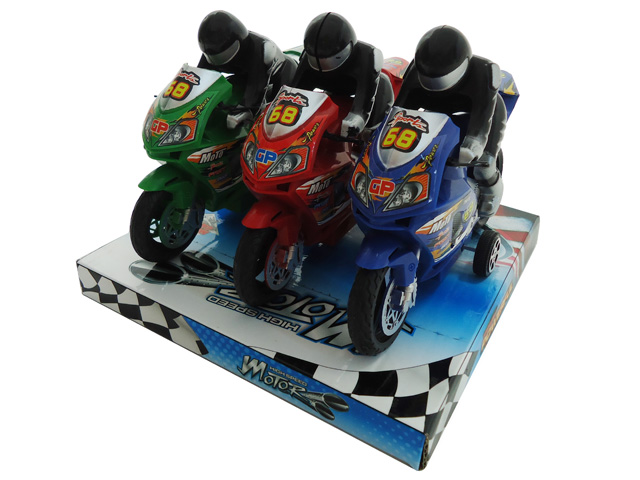 "Friction Powered 7"" Motorcycle Bike Toy For Kids! ""Set Of 3"" by"