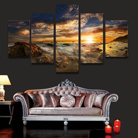 Meigar Huge Sun Sky Modern Abstract Wall Decor Art Oil Painting On Canvas ( No Frame)