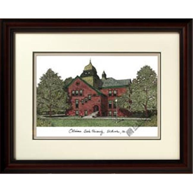 Campus Images OK999R 18'' x 14'' Oklahoma State University Alumnus Lithograph Frame