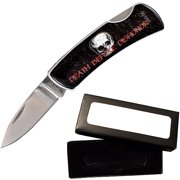 "Joy Enterprises FP10401 Fury BladeCandy Resin Litho 3.5""- Death Before Dishonor Folding Knife"