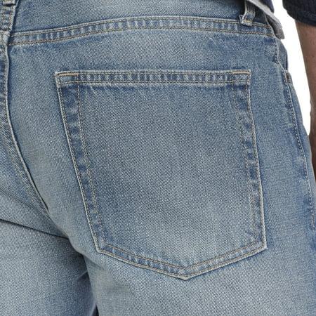george uk men 39 s belted light wash bootcut jeans. Black Bedroom Furniture Sets. Home Design Ideas